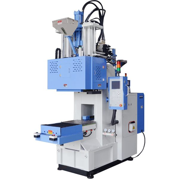 C type horizontal injection vertical clamping, single sliding table, injection molding machine