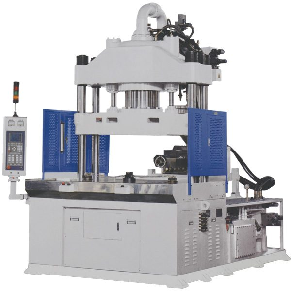K type, horizontal injection vertical clamping, rotary table, injection molding machine